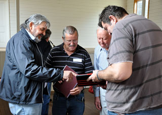 Members of the Condah community share family records